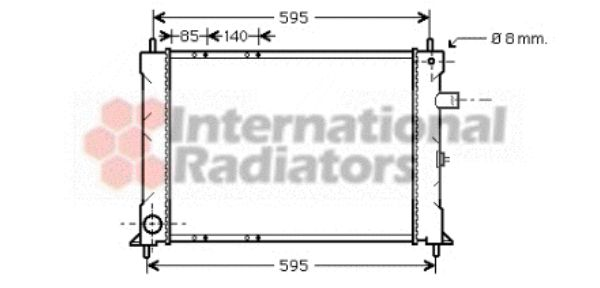 Radiateur, refroidissement du moteur - VWA - 88VWA02002155