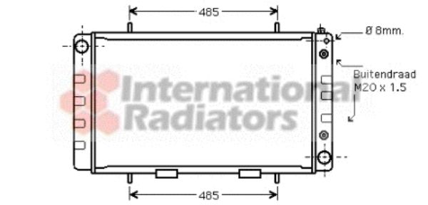 Radiateur, refroidissement du moteur - VWA - 88VWA02002162