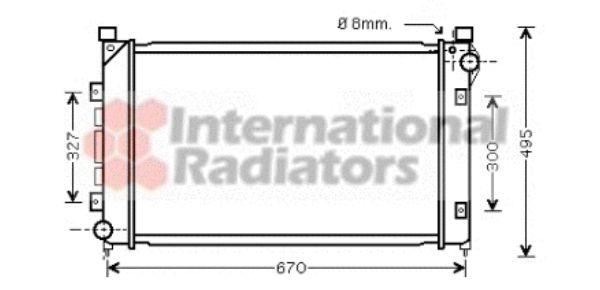 Radiateur, refroidissement du moteur - VAN WEZEL - 02002163