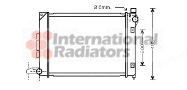 Radiateur, refroidissement du moteur - VAN WEZEL - 02002164