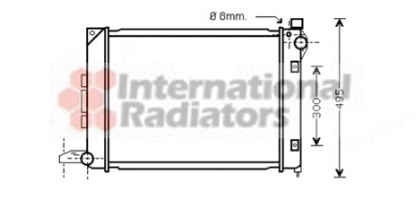 Radiateur, refroidissement du moteur - VWA - 88VWA02002164