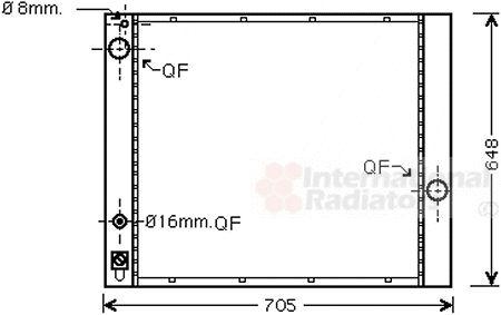 Radiateur, refroidissement du moteur - VWA - 88VWA02002166