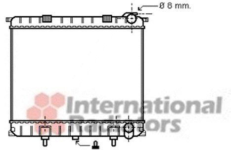 Radiateur, refroidissement du moteur - VAN WEZEL - 02002173