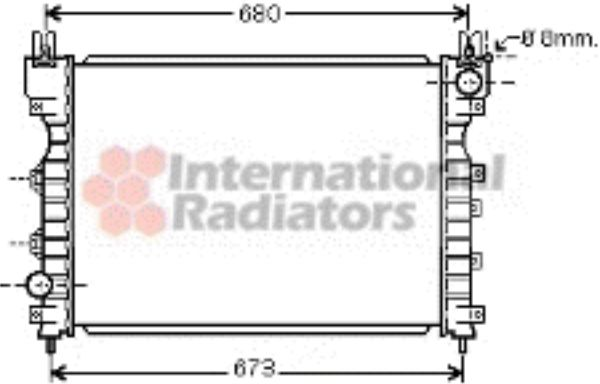 Radiateur, refroidissement du moteur - VAN WEZEL - 02002174