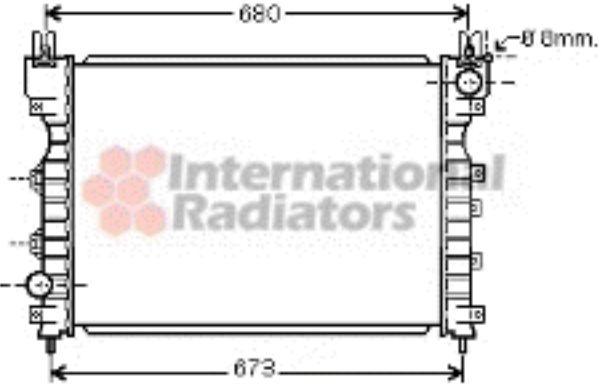 Radiateur, refroidissement du moteur - VWA - 88VWA02002174