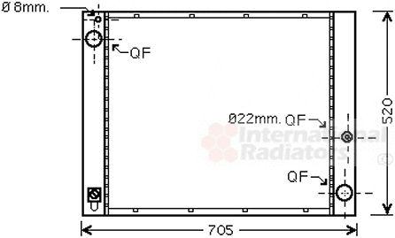 Radiateur, refroidissement du moteur - VWA - 88VWA02002183