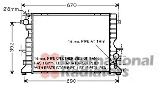 Radiateur, refroidissement du moteur - VAN WEZEL - 02002184