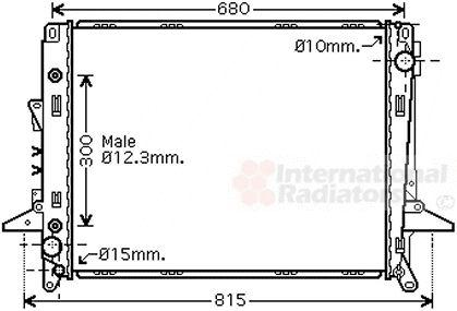 Radiateur, refroidissement du moteur - VWA - 88VWA02002197