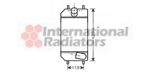 Intercooler, échangeur - VAN WEZEL - 02004179