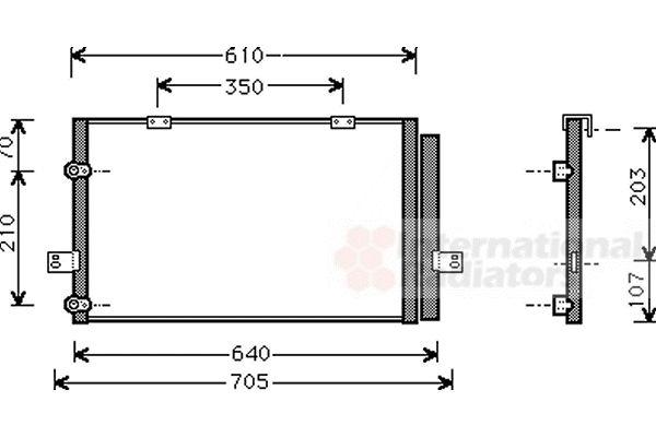 Condenseur, climatisation - VAN WEZEL - 02005078