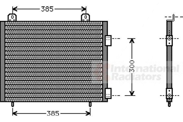 Condenseur, climatisation - VAN WEZEL - 02005141