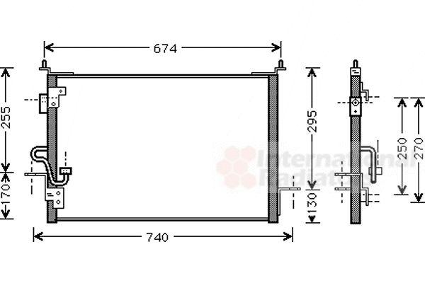 Condenseur, climatisation - VAN WEZEL - 02005143