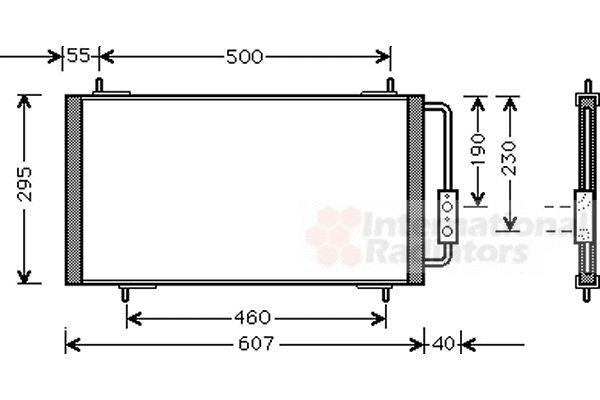Condenseur, climatisation - VWA - 88VWA02005147