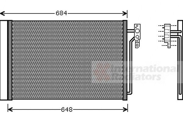 Condenseur, climatisation - VWA - 88VWA02005182