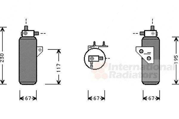 Filtre déshydratant, climatisation - VAN WEZEL - 0200D144