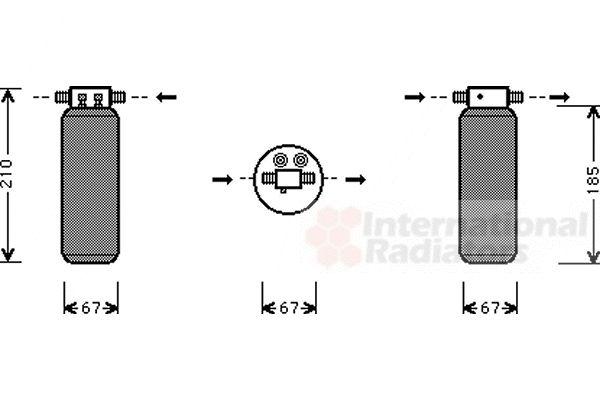 Filtre déshydratant, climatisation - VWA - 88VWA0200D145