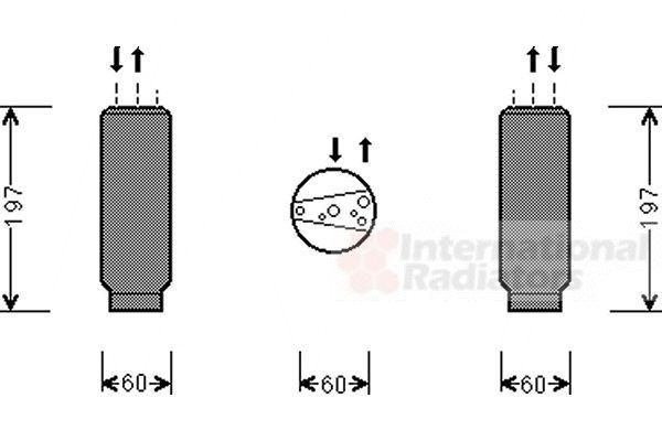 Filtre déshydratant, climatisation - VAN WEZEL - 0200D146