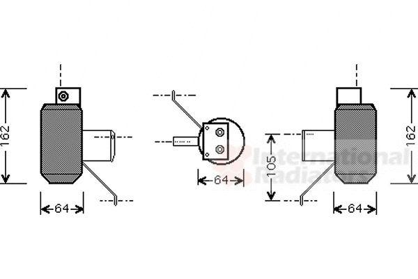 Filtre déshydratant, climatisation - VAN WEZEL - 0200D159