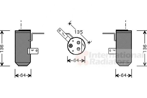 Filtre déshydratant, climatisation - VWA - 88VWA0200D160