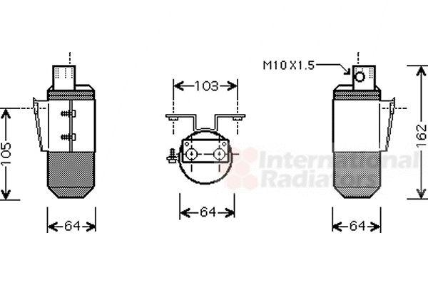 Filtre déshydratant, climatisation - VAN WEZEL - 0200D170