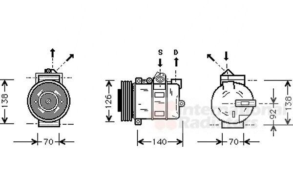Compresseur, climatisation - VWA - 88VWA0200K038