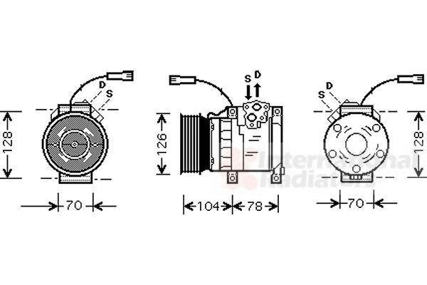 Compresseur, climatisation - VWA - 88VWA0200K168