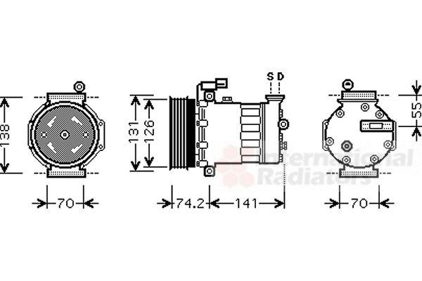 Compresseur, climatisation - VAN WEZEL - 0200K171
