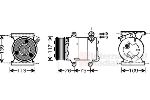 Compresseur, climatisation - VWA - 88VWA0200K185