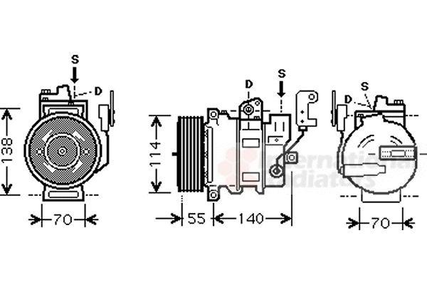Compresseur, climatisation - VAN WEZEL - 0200K187