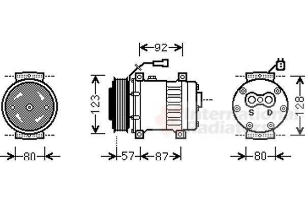 Compresseur, climatisation - VAN WEZEL - 0200K203