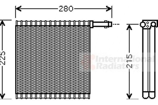 Evaporateur climatisation - VAN WEZEL - 0200V196