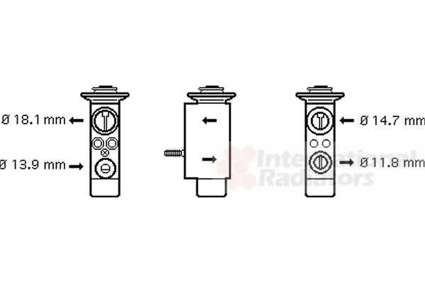 Détendeur, climatisation - VWA - 88VWA06001085