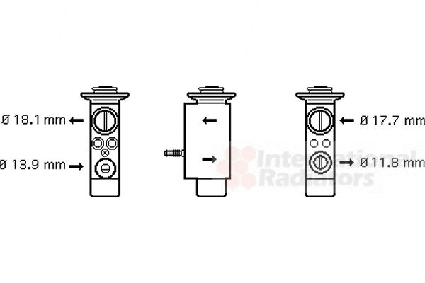 Détendeur, climatisation - VWA - 88VWA06001238