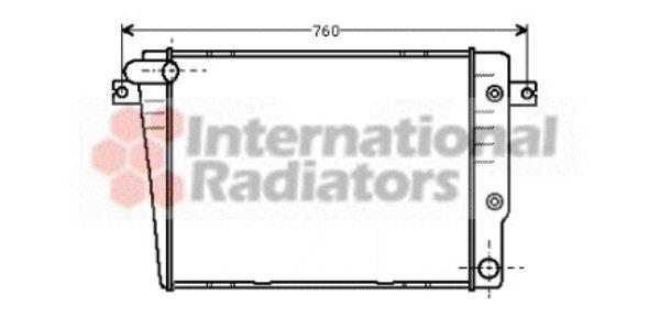 Radiateur, refroidissement du moteur - VAN WEZEL - 06002018