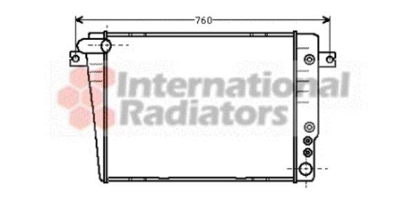 Radiateur, refroidissement du moteur - VWA - 88VWA06002020