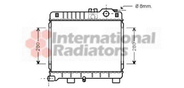Radiateur, refroidissement du moteur - VAN WEZEL - 06002027