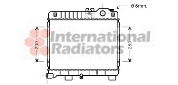 Radiateur, refroidissement du moteur - VWA - 88VWA06002027