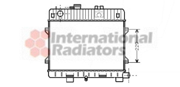 Radiateur, refroidissement du moteur - VAN WEZEL - 06002031