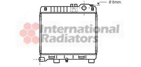 Radiateur, refroidissement du moteur - VAN WEZEL - 06002033
