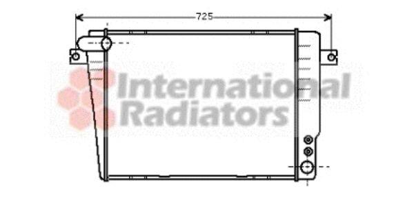 Radiateur, refroidissement du moteur - VAN WEZEL - 06002036