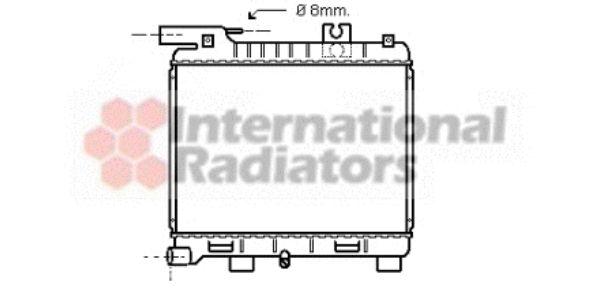 Radiateur, refroidissement du moteur - VAN WEZEL - 06002055
