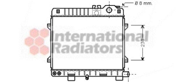 Radiateur, refroidissement du moteur - VAN WEZEL - 06002075