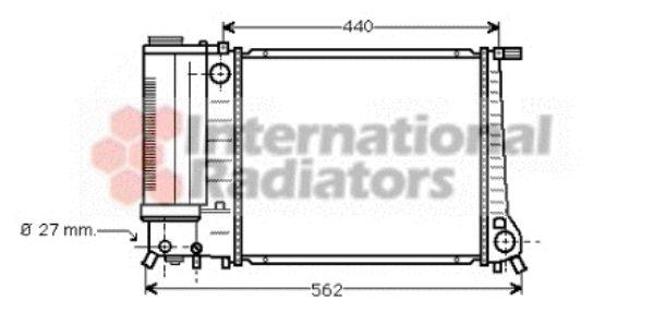 Radiateur, refroidissement du moteur - VAN WEZEL - 06002081