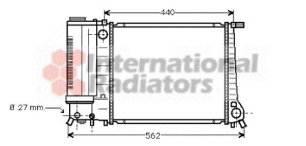 Radiateur, refroidissement du moteur - VWA - 88VWA06002081