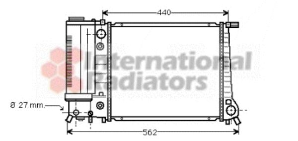 Radiateur, refroidissement du moteur - VWA - 88VWA06002082