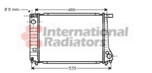 Radiateur, refroidissement du moteur - VAN WEZEL - 06002086