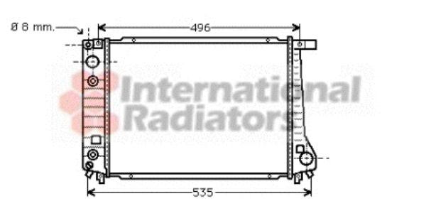 Radiateur, refroidissement du moteur - VAN WEZEL - 06002087