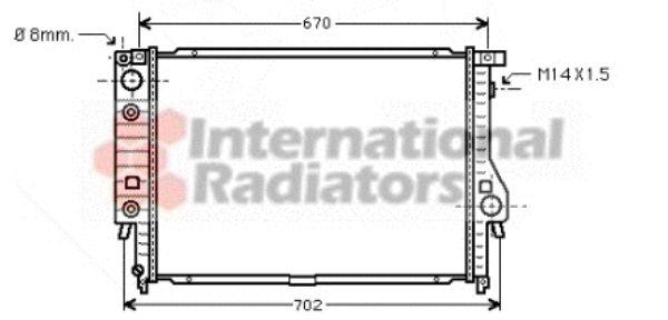 Radiateur, refroidissement du moteur - VWA - 88VWA06002092