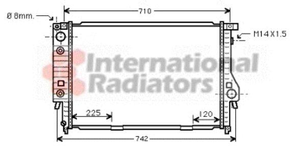 Radiateur, refroidissement du moteur - VAN WEZEL - 06002094