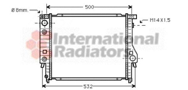 Radiateur, refroidissement du moteur - VAN WEZEL - 06002099